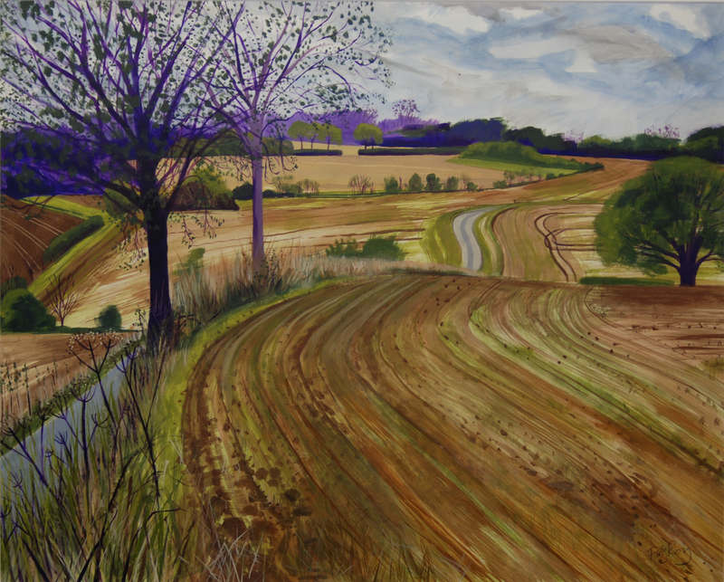 Towards Gillingham 52 x 65cm