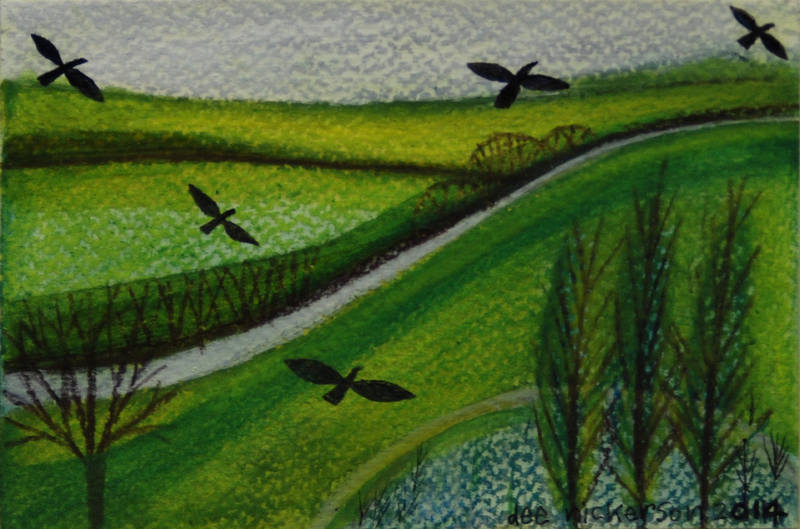 Five Crows 10x15cm