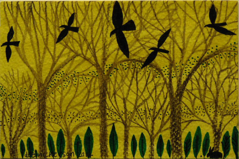 Woodland Crows 10x15cm