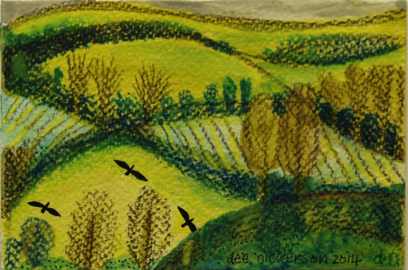 Across the Valley 10x15cm