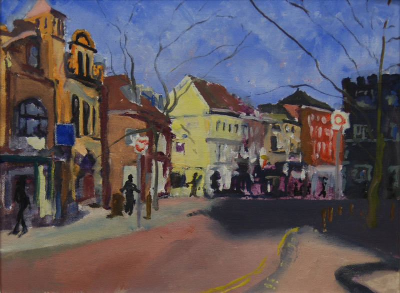 Lower St. Giles Norwich James Colman 30x40cm