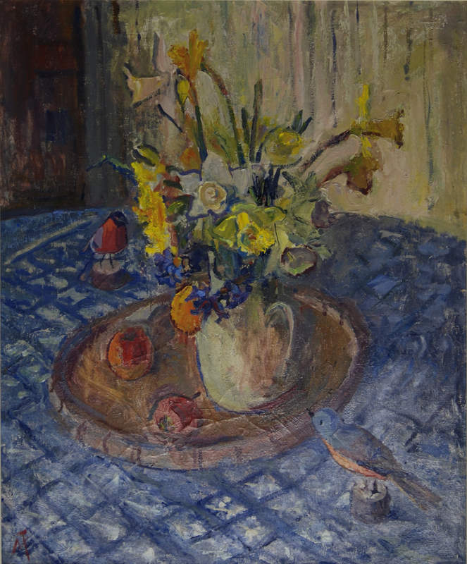 Spring Bunch Margaret Thomas 76 x 64cm