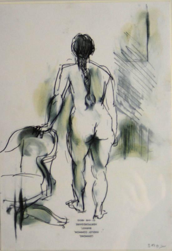 Standing Nude Sargy Mann 30x20