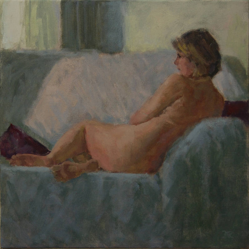 Figure by Window Delia Tournay-Godfrey 40x40cm