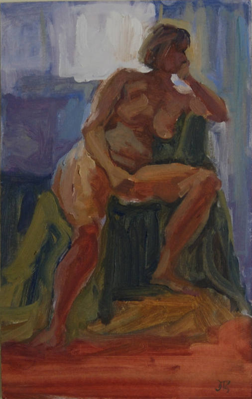 Figure in Studio 1 Delia Tournay-Godfrey 34x22cm
