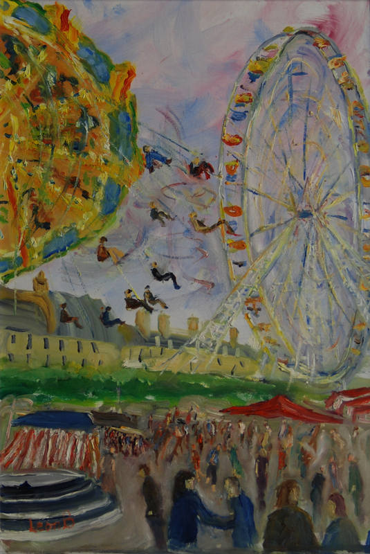Paris Fairground Leon Bunnewell 45x30cm