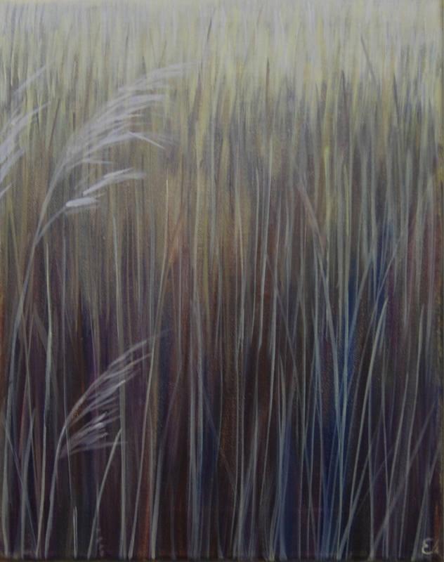 Winter reeds Eileen Coxon 40x30cm