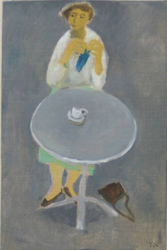 Enjoying Drinking Coffee Alone 13.5x9cm