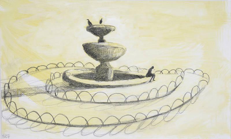 Fountain (water colour) TN 18x29cm