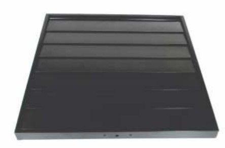 CVGLS-550 Metal Flap Louvre Shutter (Black)