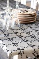 blkcraean tablecloth