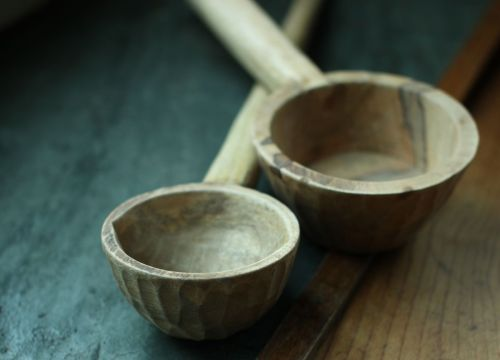 Nkuku Dishi mango wood ladle