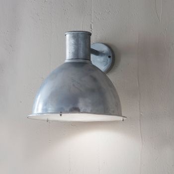 Galvanised outdoor light