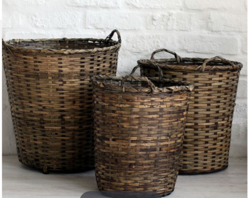 Set of 3 Palm leaf baskets
