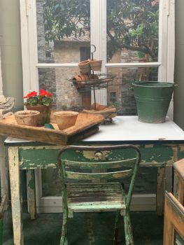 Vintage scullery table