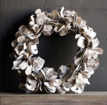 SOLD Oyster shell wreath
