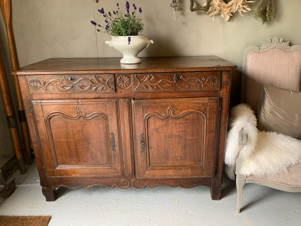 Louis XV 18th Century French fruitwood buffet/dresser