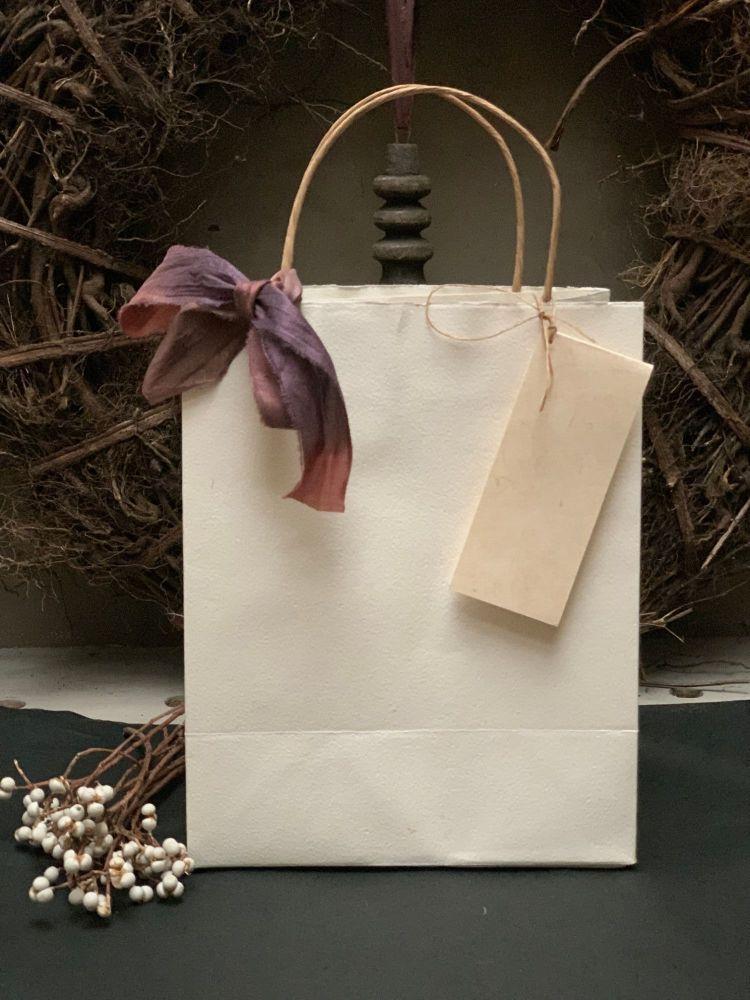 Handmade paper gift bag