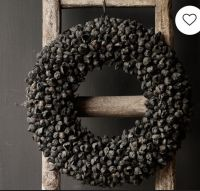 Black coco fruit wreath