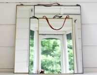 Antique zinc mirror