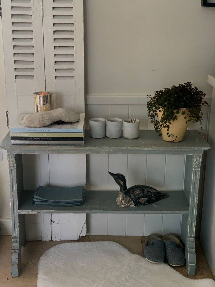 French painted bench/shelf