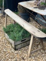 Rustic french farmhouse bench
