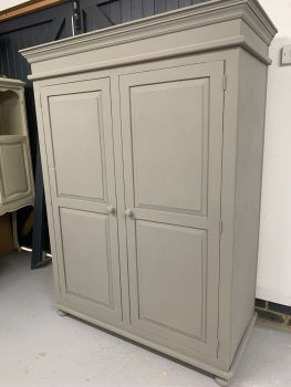 SOLD French painted pine armoire