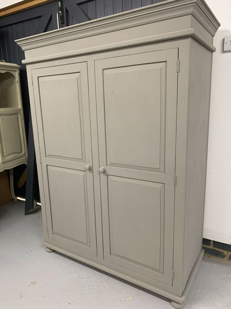 French painted pine armoire