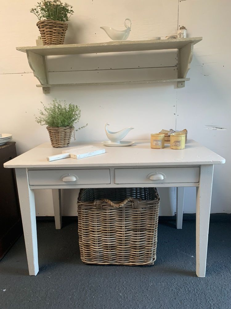 Rustic painted pine kitchen table