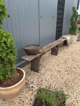 Old french school bench