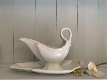 Vintage french ceramic sauce boat