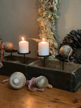 Wabi sabi style brick mould candle holder