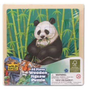 Wild Republic Giant Panda 20 Piece Wooden Jigsaw