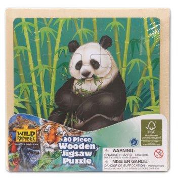 Wild Republic Giant Panda 20 Piece Wooden Jigsaw