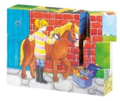 goki 12 piece Horse Cube puzzle