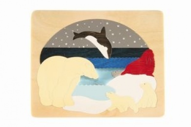 George Luck 2 Layer Arctic Animals Wooden puzzle