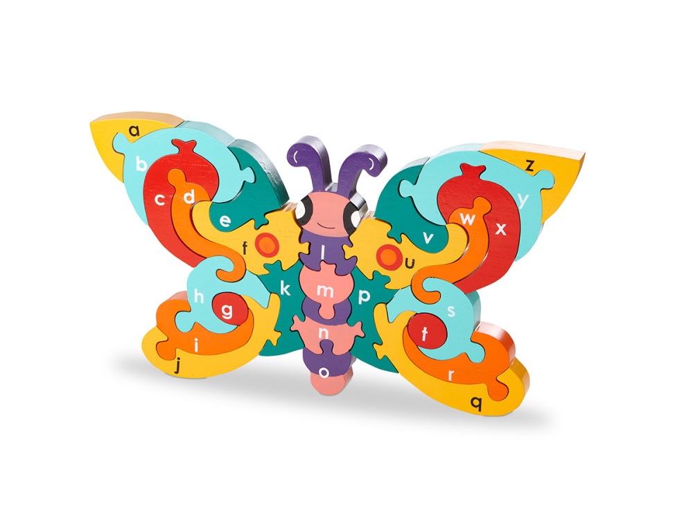 Wood Like To Play Wooden Alphabet Butterfly Puzzle