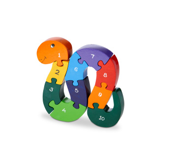 Wood Like To Play Wooden Number Snake Puzzle