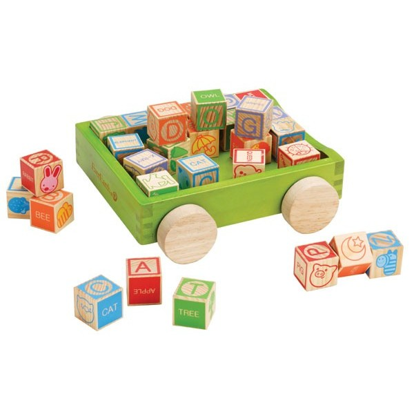 Ever Earth 30 Piece Pull Along Alphabet Blocks