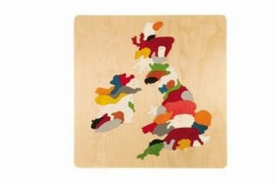 George Luck Animal Map of Great Britain and Eire