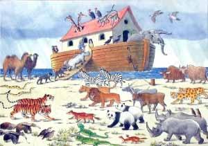 Robert Longstaff 24 piece Noah's Ark Wooden Puzzle