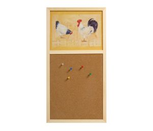 Stow Green Cork Pin Board - Chickens