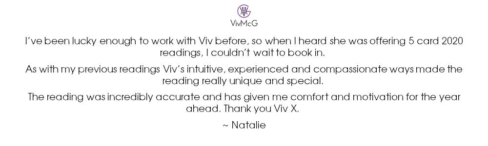 2020 5-card reading - testimonial - Natalie