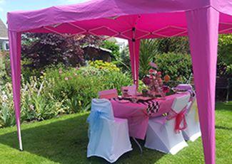 Girls pamper parties Kent awning