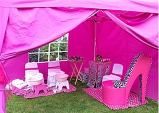Girls pamper parties Kent Lollipops gazebo