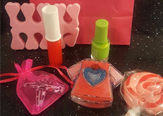 Girls pamper parties Kent Lipstick party bag