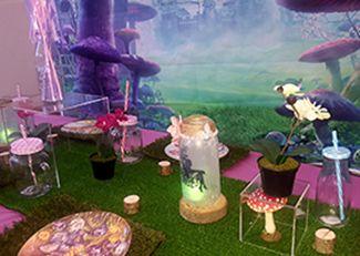 Girls pamper parties Kent fairy themed table arrangement 2