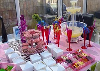 Girls pamper parties Kent Lipstick drinks fountain