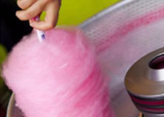 Girls pamper parties Kent extras candy floss machine