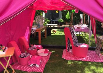 Girls pamper parties Lipstick package gazebo